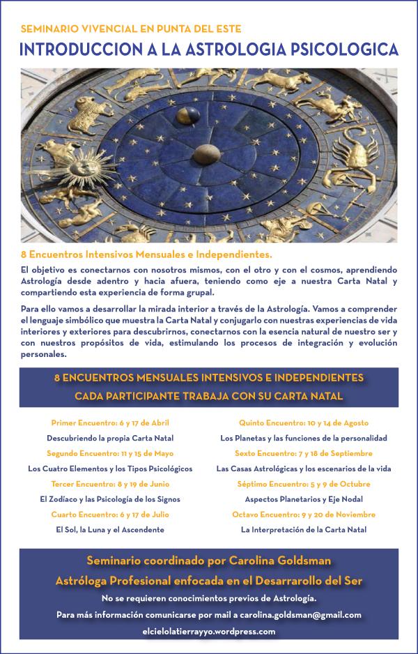 Seminario de Astrología Psicológica en Punta del Este . Uruguay