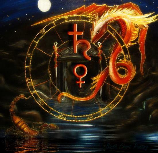Venus, Saturno y el Nodo Norte en Escorpio - Astrologia Psicologica -
